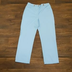 St. John Sport Light Blue Sport Twill Pants sz 12